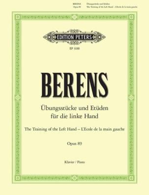 Ecole de la Main Gauche Opus 89 Hermann Berens Partition laflutedepan