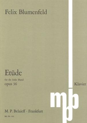 Félix Blumenfeld - Study Opus 36 Left Hand - Sheet Music - di-arezzo.co.uk