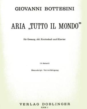 Giovanni Bottesini - Aria : Tutto il Mondo - Partition - di-arezzo.fr