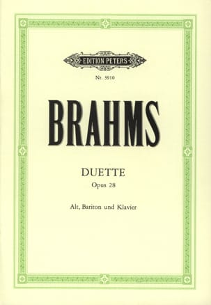 BRAHMS - 4 Duet Opus 28 - Sheet Music - di-arezzo.co.uk