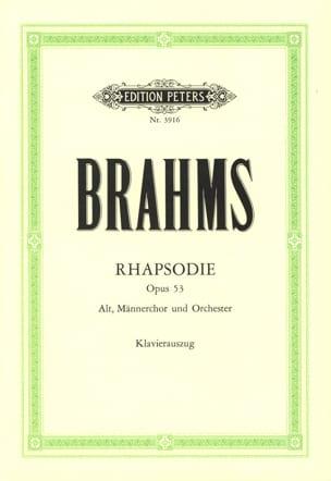 BRAHMS - Rhapsodie Opus 53 - Partition - di-arezzo.fr