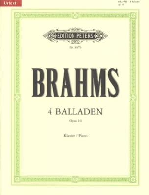 4 Ballades op.10 - BRAHMS - Partition - Piano - laflutedepan.com