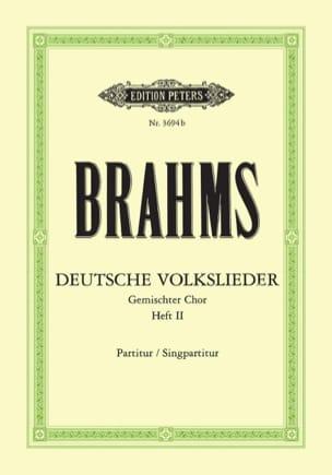 Deutsche Volkslieder Vol 2. Woo 34 Choeur BRAHMS laflutedepan