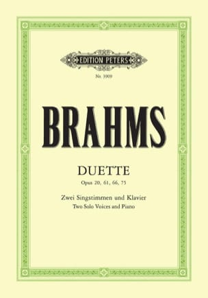 BRAHMS - Duette Opus 20, 61, 66, 75 - Sheet Music - di-arezzo.co.uk