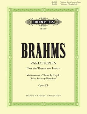 BRAHMS - Variations on 1 Theme of Haydn Opus 56b. 2 Pianos - Sheet Music - di-arezzo.com