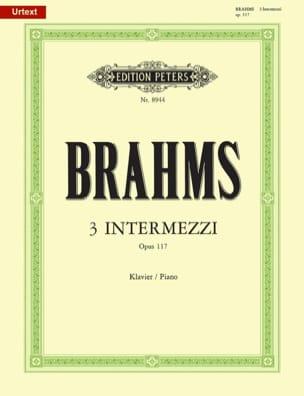 BRAHMS - 3 Intermezzi Opus 117 - Partitura - di-arezzo.es