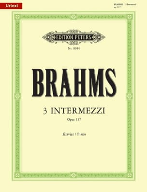 BRAHMS - 3 Intermezzi Opus 117 - Sheet Music - di-arezzo.com