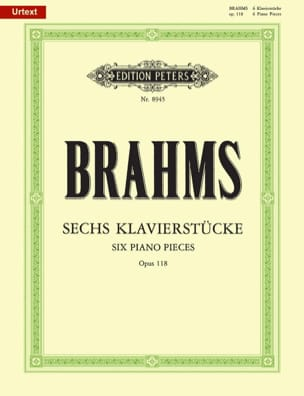 BRAHMS - 6 Klavierstücke Opus 118 - Partition - di-arezzo.fr