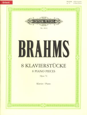 BRAHMS - Klavierstücke Op. 76 - Partition - di-arezzo.ch