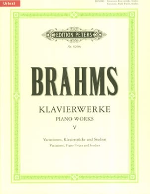 BRAHMS - Piano Works Volume 5 - Sheet Music - di-arezzo.com