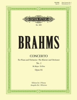 BRAHMS - Piano Concerto No. 2 Opus 83 in B flat major - Sheet Music - di-arezzo.co.uk
