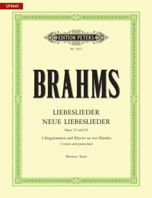 BRAHMS - Liebeslieder und neue Liebeslieder - Opus 52 et 65 - Partition - di-arezzo.fr