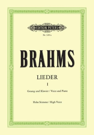 BRAHMS - Lieder Volume 1. High voice - Sheet Music - di-arezzo.com