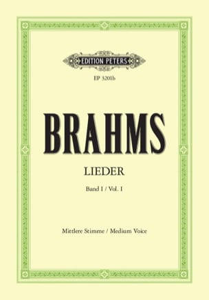 BRAHMS - Lieder Volume 1. Average Voice - Sheet Music - di-arezzo.com