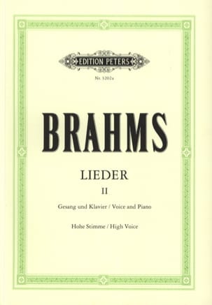 BRAHMS - Lieder Volume 2. High Voice - Sheet Music - di-arezzo.co.uk