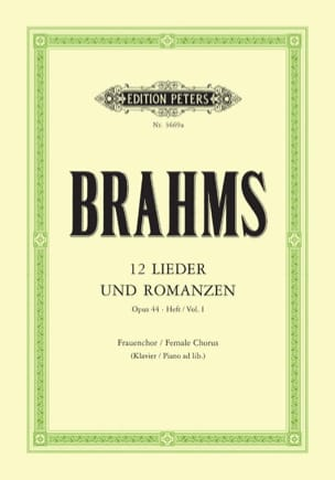 BRAHMS - 12 Lieder And Romances Opus 44 Volume 1 - Sheet Music - di-arezzo.com