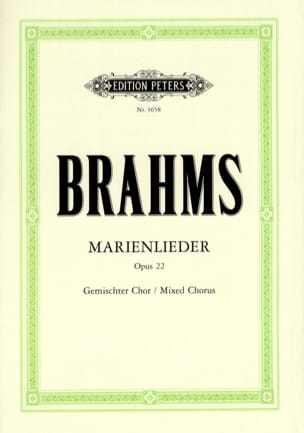 BRAHMS - Marienlieder Opus 22 - Partition - di-arezzo.fr