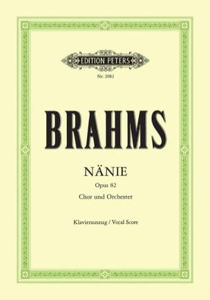 Nänie Opus 82 BRAHMS Partition Chœur - laflutedepan