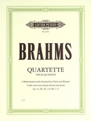 BRAHMS - Vocal Foursomes - Sheet Music - di-arezzo.co.uk