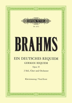Ein Deutsches Requiem Opus 45 - BRAHMS - Partition - laflutedepan.com