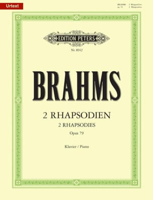 2 Rhapsodies Opus 79 BRAHMS Partition Piano - laflutedepan