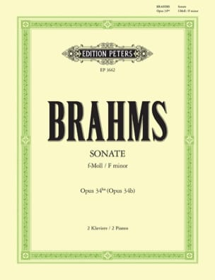 BRAHMS - Sonata Opus 34 Bis. 2 Pianos - Sheet Music - di-arezzo.co.uk