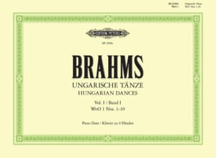 BRAHMS - Danses Hongroises Volume 1. 4 Mains - Partition - di-arezzo.fr