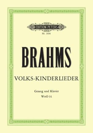 Johannes Brahms - Volks-Kinderlieder WoO 31 - Partition - di-arezzo.fr