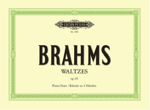 BRAHMS - Valses Opus 39. 4 Hands - Sheet Music - di-arezzo.co.uk