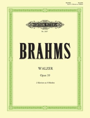 Johannes Brahms - Walzer Opus 39. 2 Pianos - Partition - di-arezzo.fr