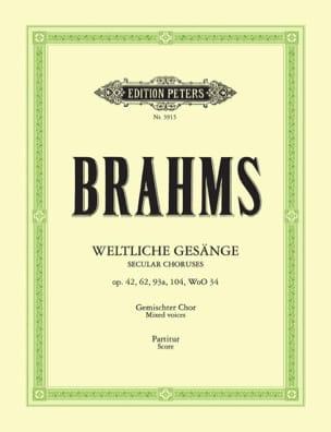 BRAHMS - Weltliche Gesänge - Sheet Music - di-arezzo.co.uk