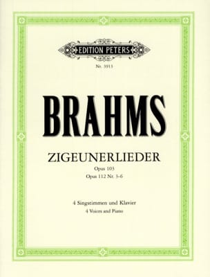 BRAHMS - Zigeunerlieder Opus 103 and 112 3 A 6 - Sheet Music - di-arezzo.com