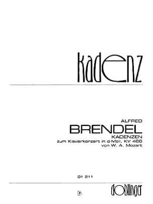 MOZART / BRENDEL - Cadence concerto Kv 466 - Partition - di-arezzo.fr