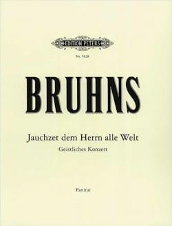 Jauchzet Dem Herren Alle Welt - Nicolaus Bruhns - laflutedepan.com