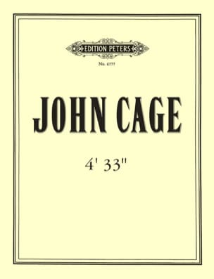 4'33'' John Cage Partition Piano - laflutedepan
