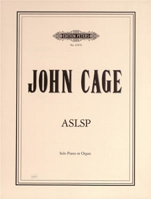 ASLSP - John Cage - Partition - Piano - laflutedepan.com