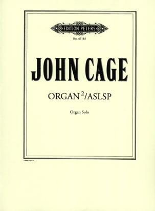 Organ Squared / Aslsp - CAGE - Partition - Orgue - laflutedepan.com
