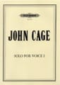 John Cage - Solo for Voice 1 - Partition - di-arezzo.fr