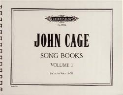 Song Books Volume 1 - John Cage - Partition - laflutedepan.com