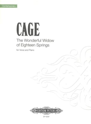 John Cage - The Wonderful Widow Of 18 Springs - Partition - di-arezzo.fr