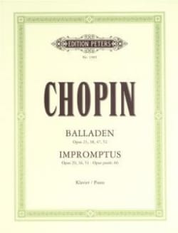 CHOPIN - Ballads and Impromptus - Sheet Music - di-arezzo.co.uk