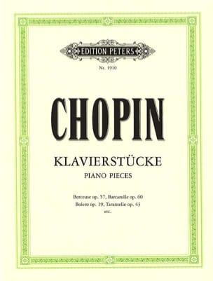 CHOPIN - Klavierstücke - Partition - di-arezzo.fr