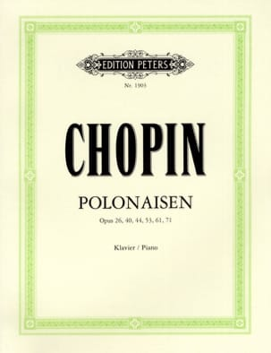 10 Polonaises CHOPIN Partition Piano - laflutedepan