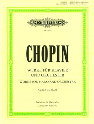 Oeuvres Opus 2, 13, 14, 22 CHOPIN Partition Piano - laflutedepan