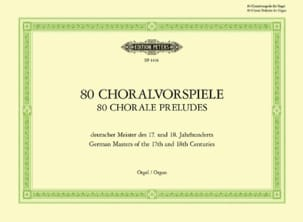 - 80 Preludes of Chorals 17 - 18 Eme Centuries - Sheet Music - di-arezzo.com