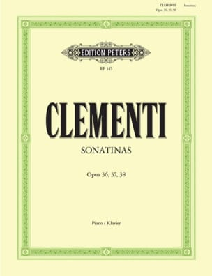 Muzio Clementi - Sonatines Opus 36, 37, 38 - Sheet Music - di-arezzo.co.uk