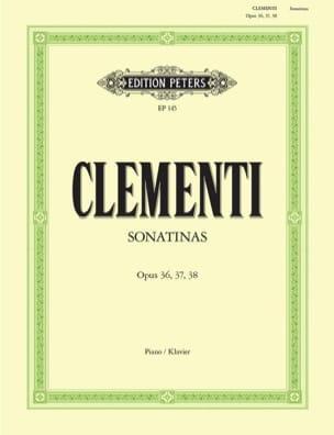 Muzio Clementi - Sonatines Opus 36, 37, 38 - Partition - di-arezzo.fr