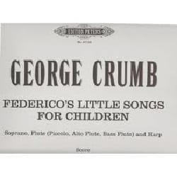 George Crumb - Federico's little Songs - Sheet Music - di-arezzo.co.uk