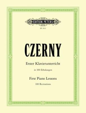 Erster Klavierunterricht - CZERNY - Partition - laflutedepan.com