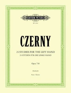 CZERNY - 24 Studies For The Left Hand Opus 718 - Sheet Music - di-arezzo.com